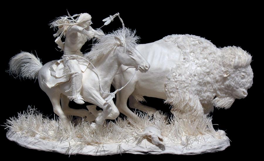 Скульптура из бумаги украсит интерьер вашего дома