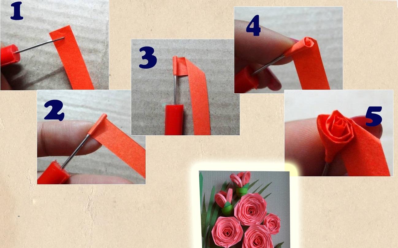 Пошаговая инструкция по созданию цветов в технике квиллинг
