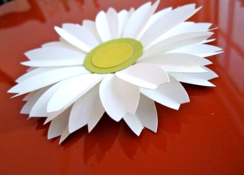 Цветы своими руками из бумаги ромашки