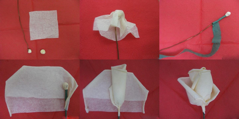 Как из бумаги сделать розу из салфетки