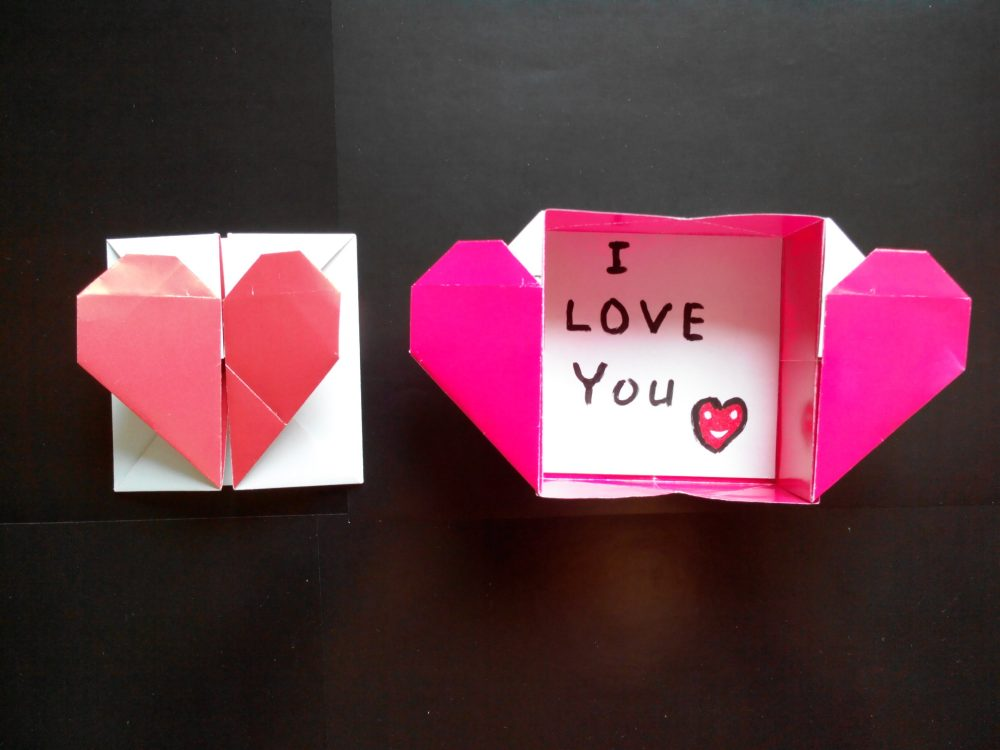Как сделать коробку с сердечком из бумаги