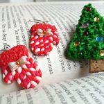 Фото 23: Новогодние сережки из полимерной глины