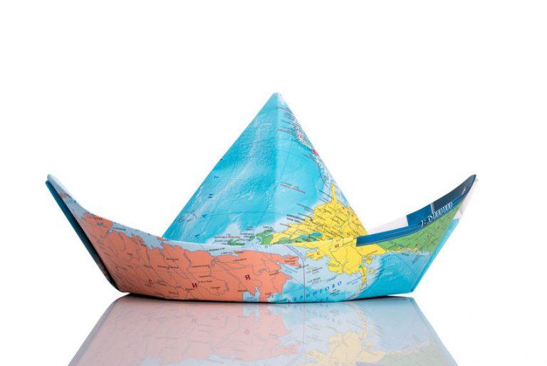 оригами для детей моторная лодка