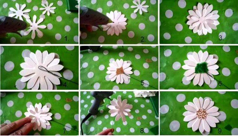 Как сделать объёмную ромашку из бумаги своими руками поэтапно фото 56