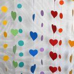 Фото 33: Штора-гирлянда из сердечек с кружками