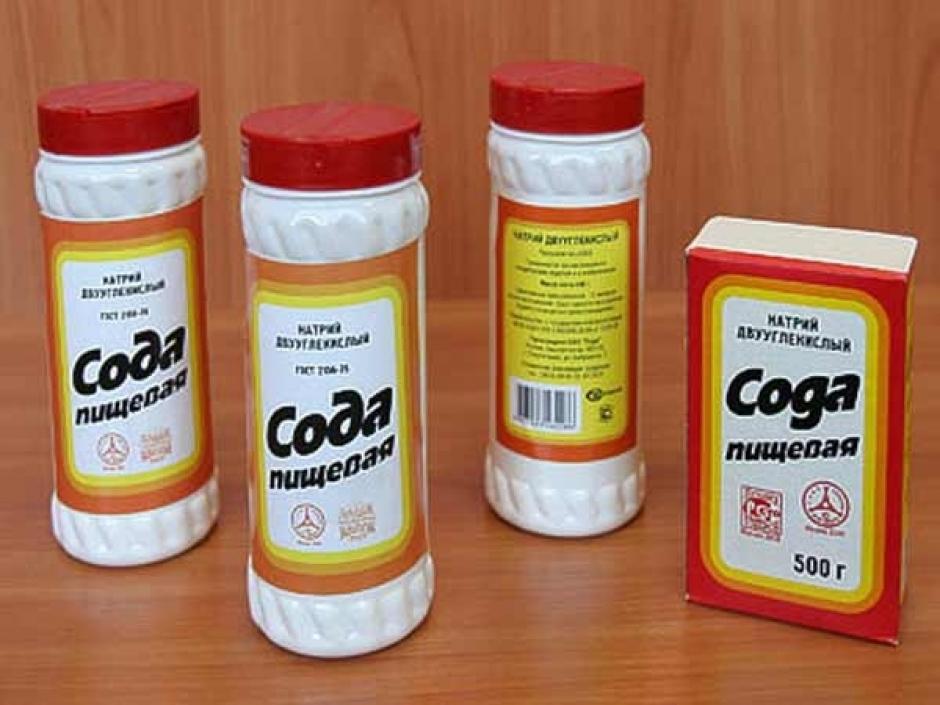 Сода для чистки ковра