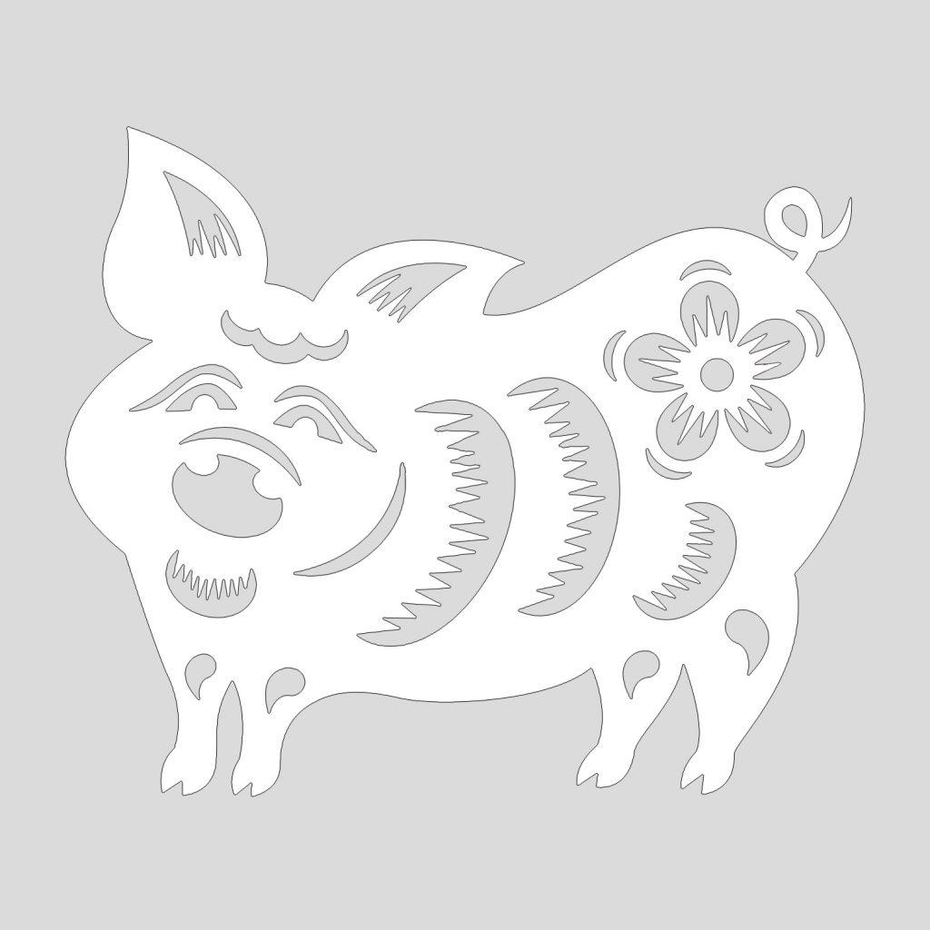 Шаблон свинки