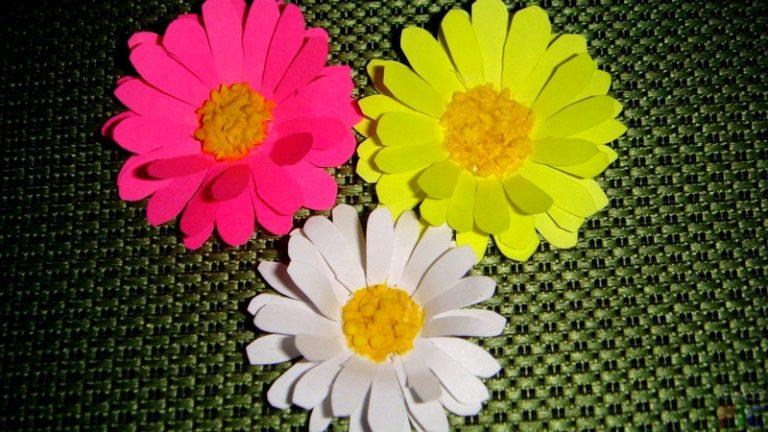 Объемные цветы из бумаги своими руками фото