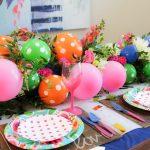 Фото 35: Украшение стола гирляндами из шариков