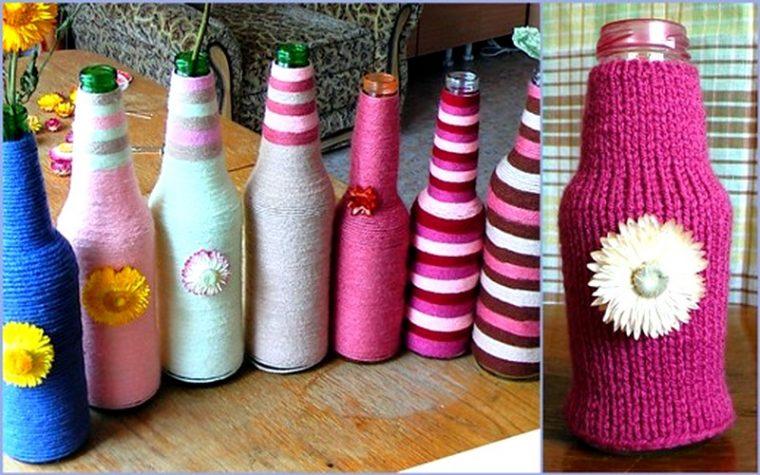 Как декорировать пластиковую бутылку своими руками 24