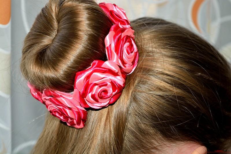 Украшения из лент для волос своими руками