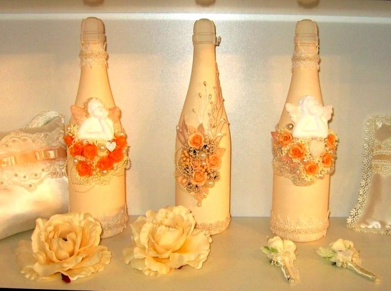 украшения на шампанское