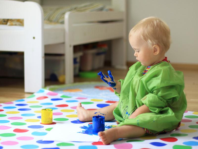 Выбор краски для рисования пальчиками