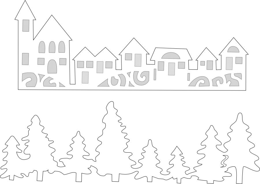 Схемы и шаблоны новогодних вытынанок к 2019 году Свиньи