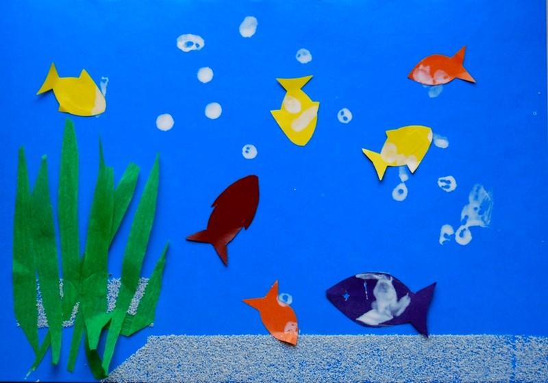 Поделки для детей 3-4 лет рыбки