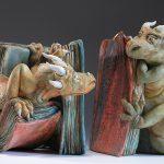 Фото 148: милы книгодержатели в виде драконов