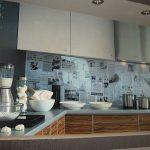 Фото 5: Газетный дизайн кухонного фартука