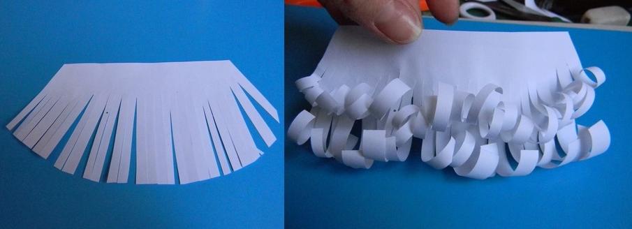 Как сделать бороду из бумаги для гнома