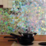Фото 79: Фартук на кухне из дисков
