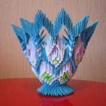 Фото 10: Конфетница в технике модульного оригами