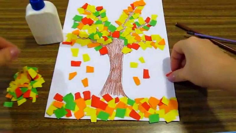 Осенние поделки с детьми 2-3 лет