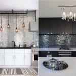 Фото 19: Металлическая мозаика на кухне