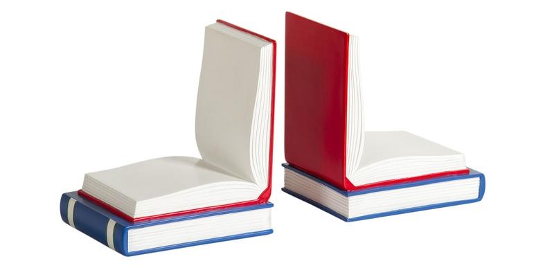 Книгодержатели в виде открытых книг