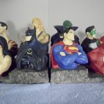 Фото 103: книгодержатели - статуэтки в виде персонажей комиксов