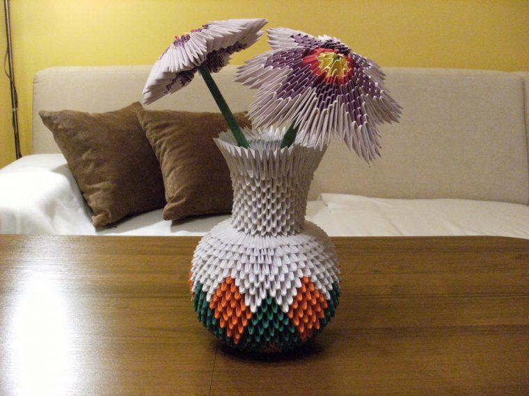 Как сделать маленькую вазу из модулей схема
