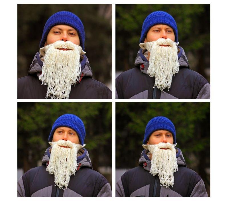 Вязаная борода Деда Мороза