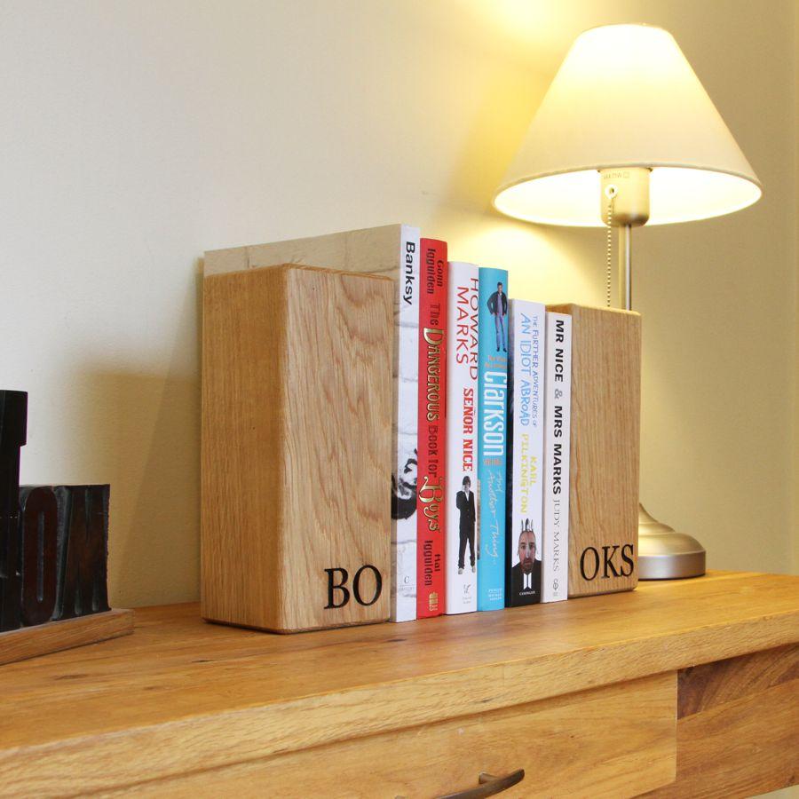 Простые книгодержатели из дерева