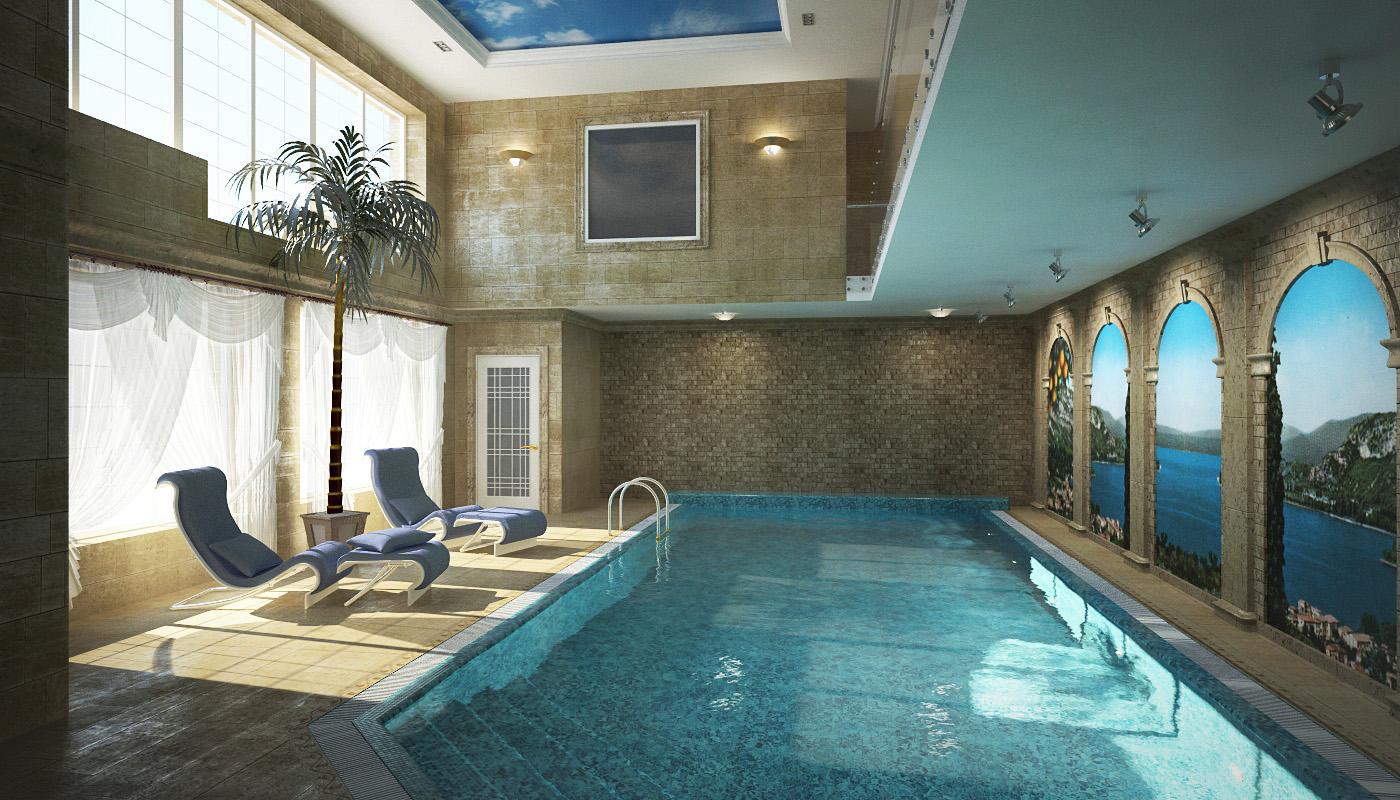 Дизайн интерьера бассейна в частном доме