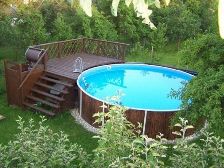 Деревянный бассейн своими руками фото