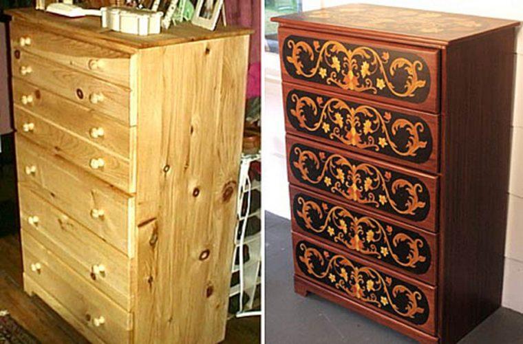 Обновление лакированной мебели своими руками