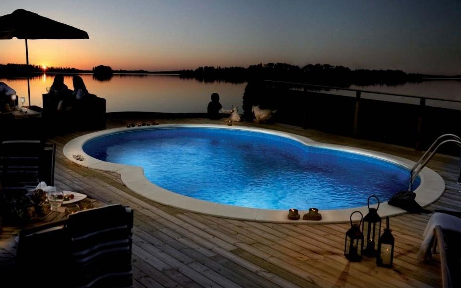 Сборный дачный бассейн