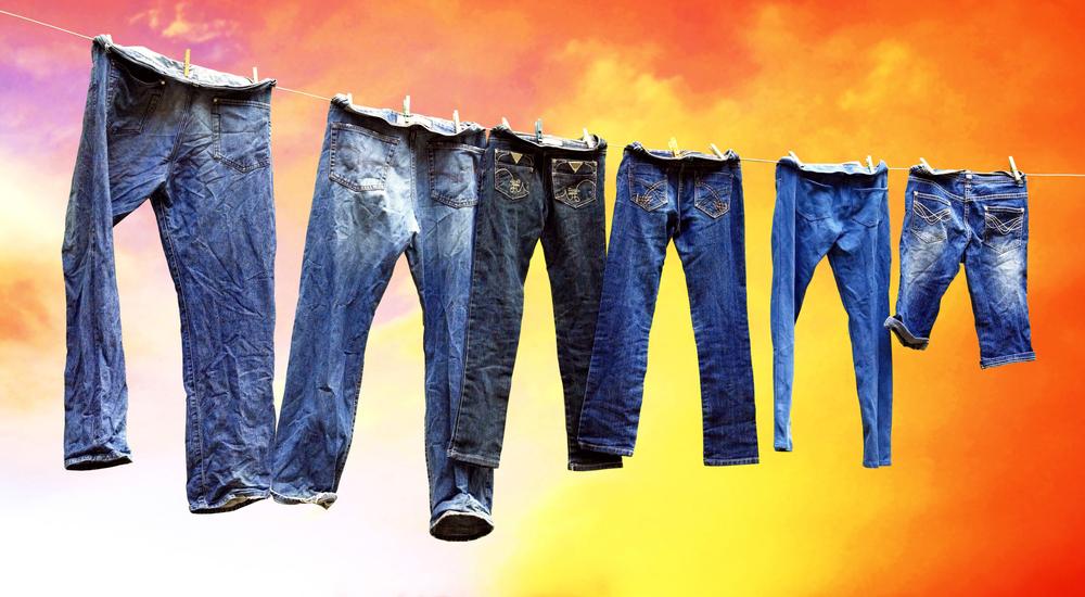 Стирка джинс