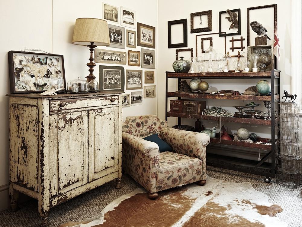 Состаренная мебель в интерьере