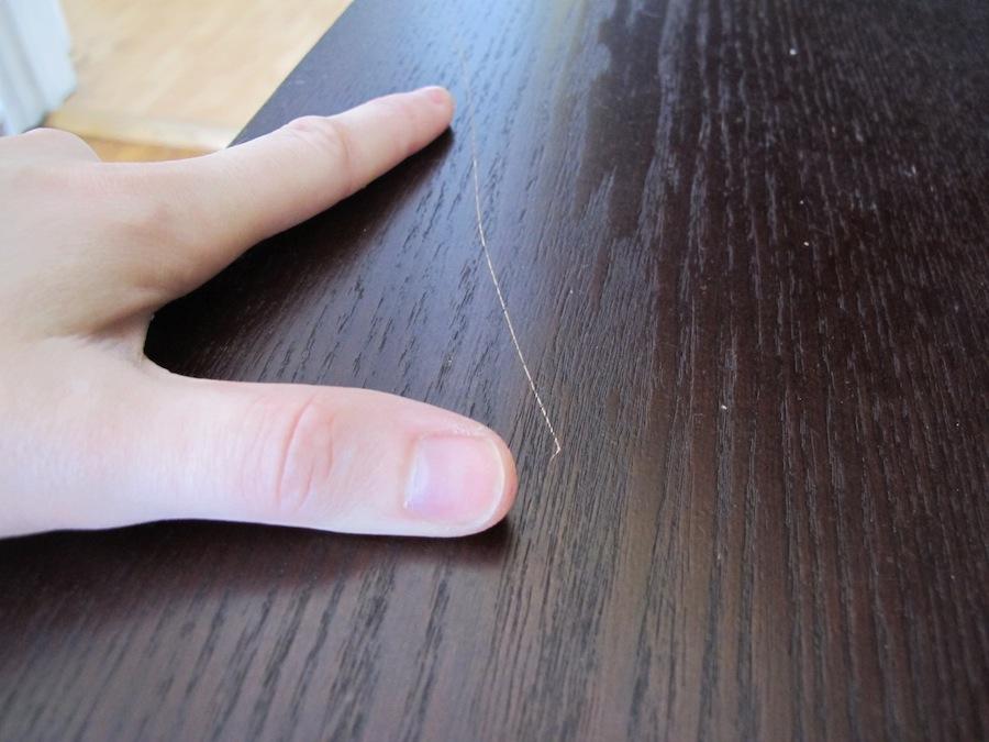 Царапины на мебели