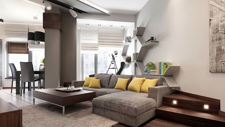 В квартире-студии должно присутствовать максимум света