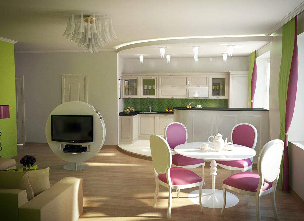 Квартира-студия редставляет одну большую комнату, в которой стенами отделен только санузел