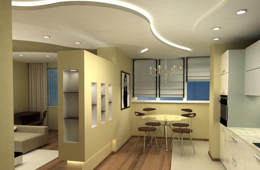 Дизайн однокомнатной квартиры-студии позволяет обеспечить несколько зон