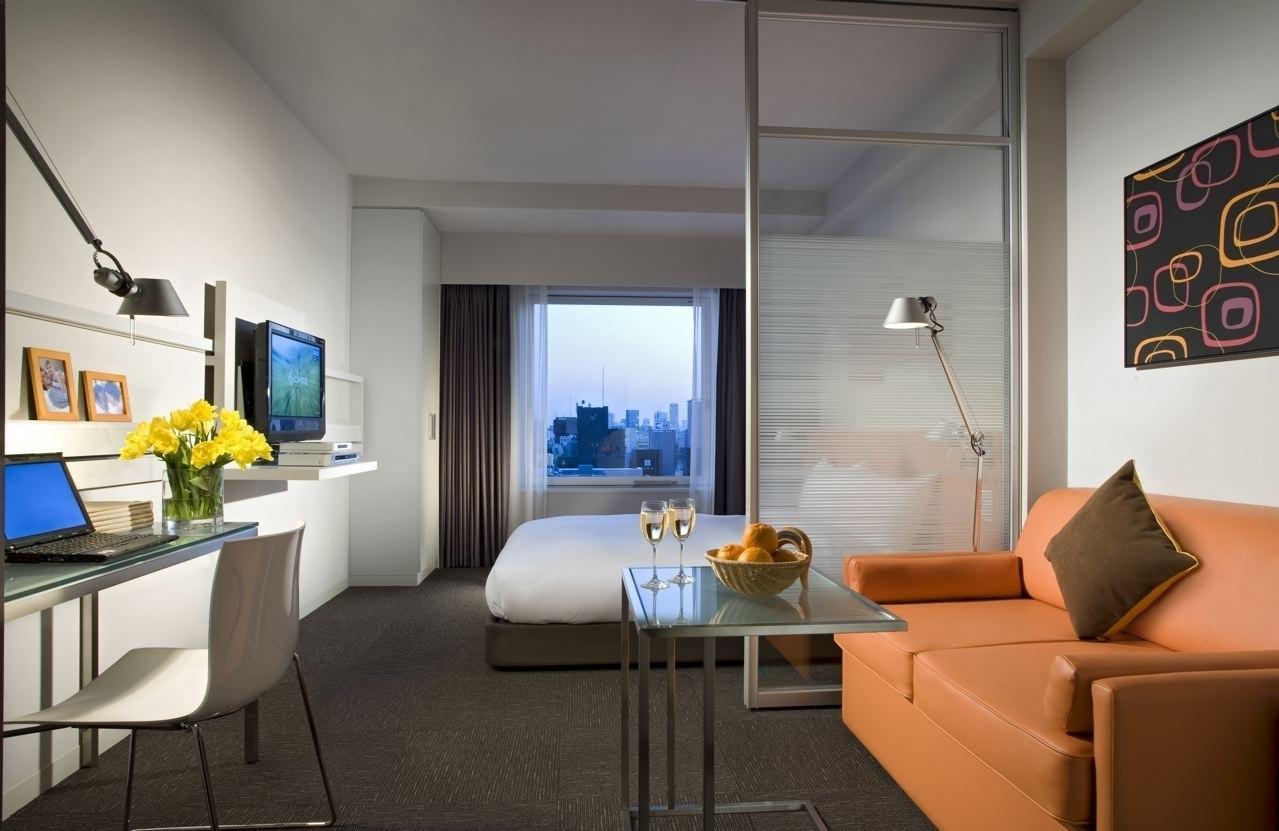 Наиболее распространенный дизайн однокомнатной квартиры-студии 30 кв.м