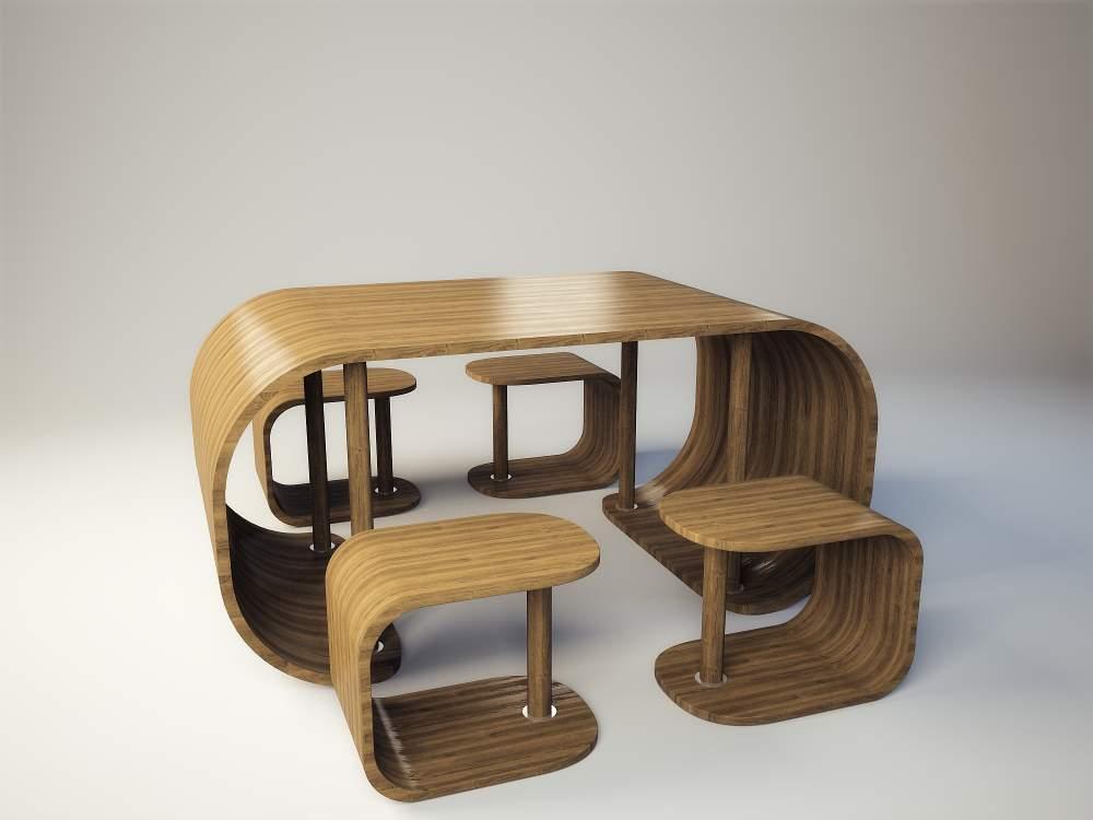 Стол и стулья из фанеры