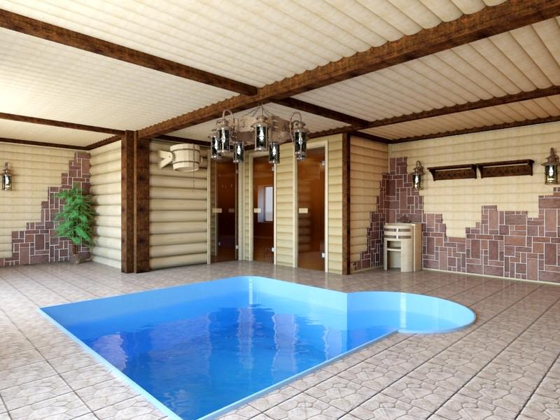 Монтаж каркасного бассейна может быть осуществлен не только на улице, но и внутри помещений