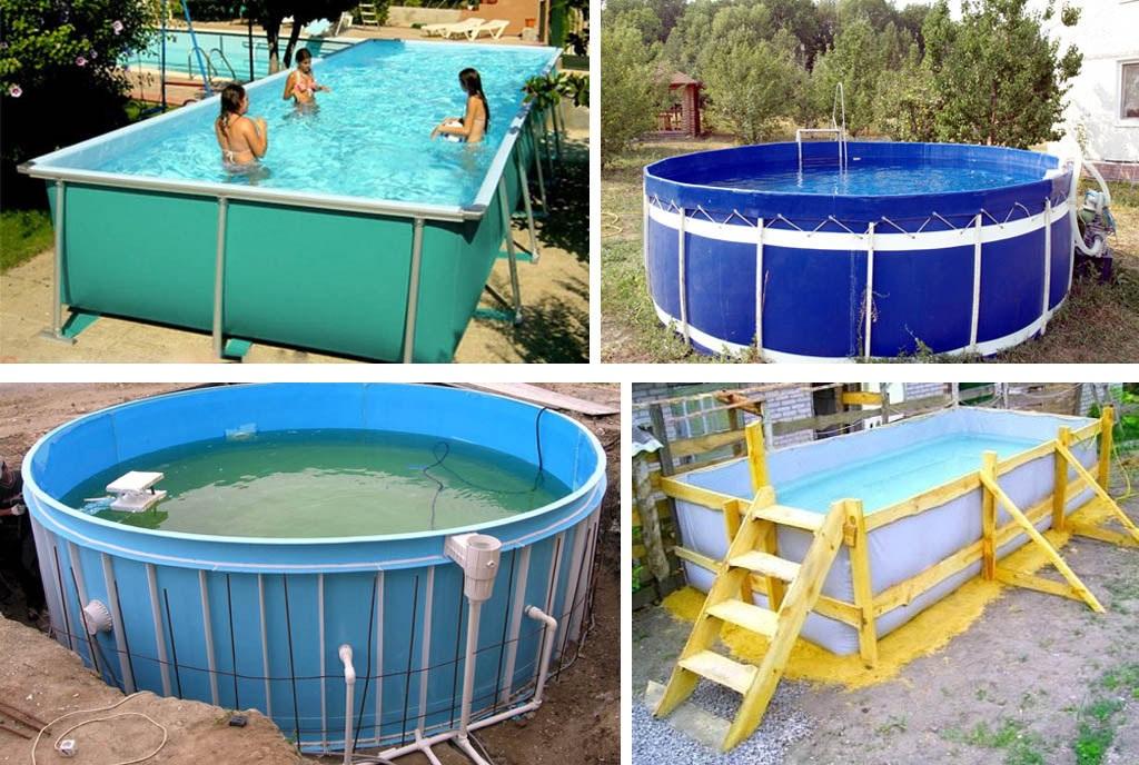 Установка каркасных бассейнов на даче