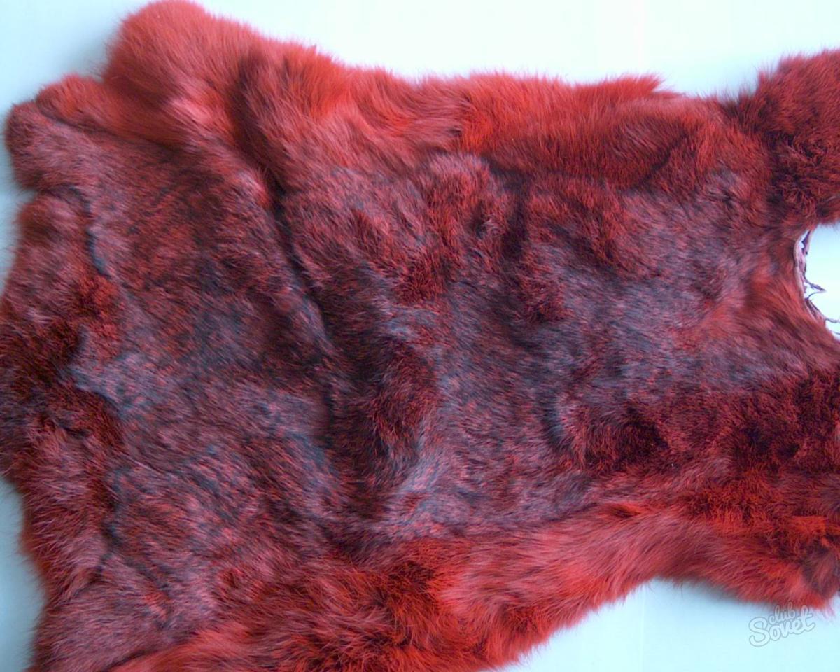Покраска меха из кролика