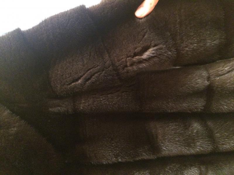 Заломы и пролысины меха