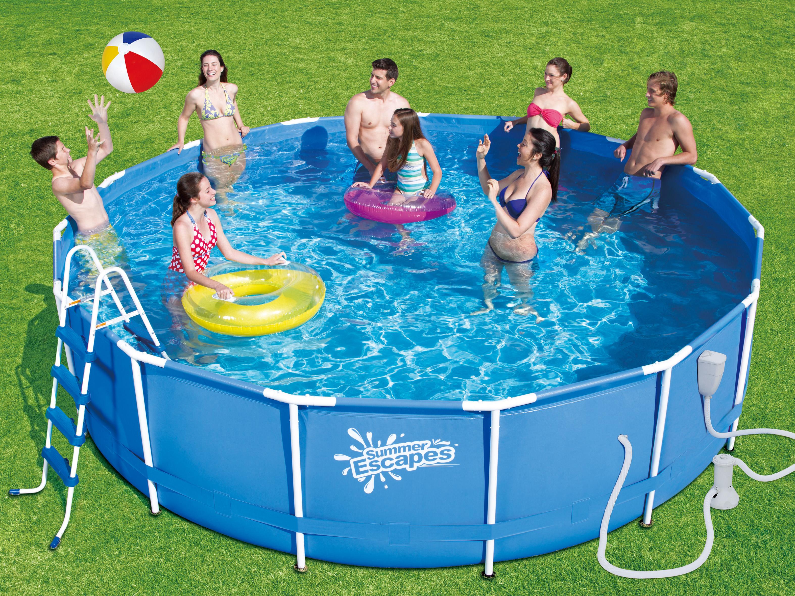 Каркасный бассейн для детей