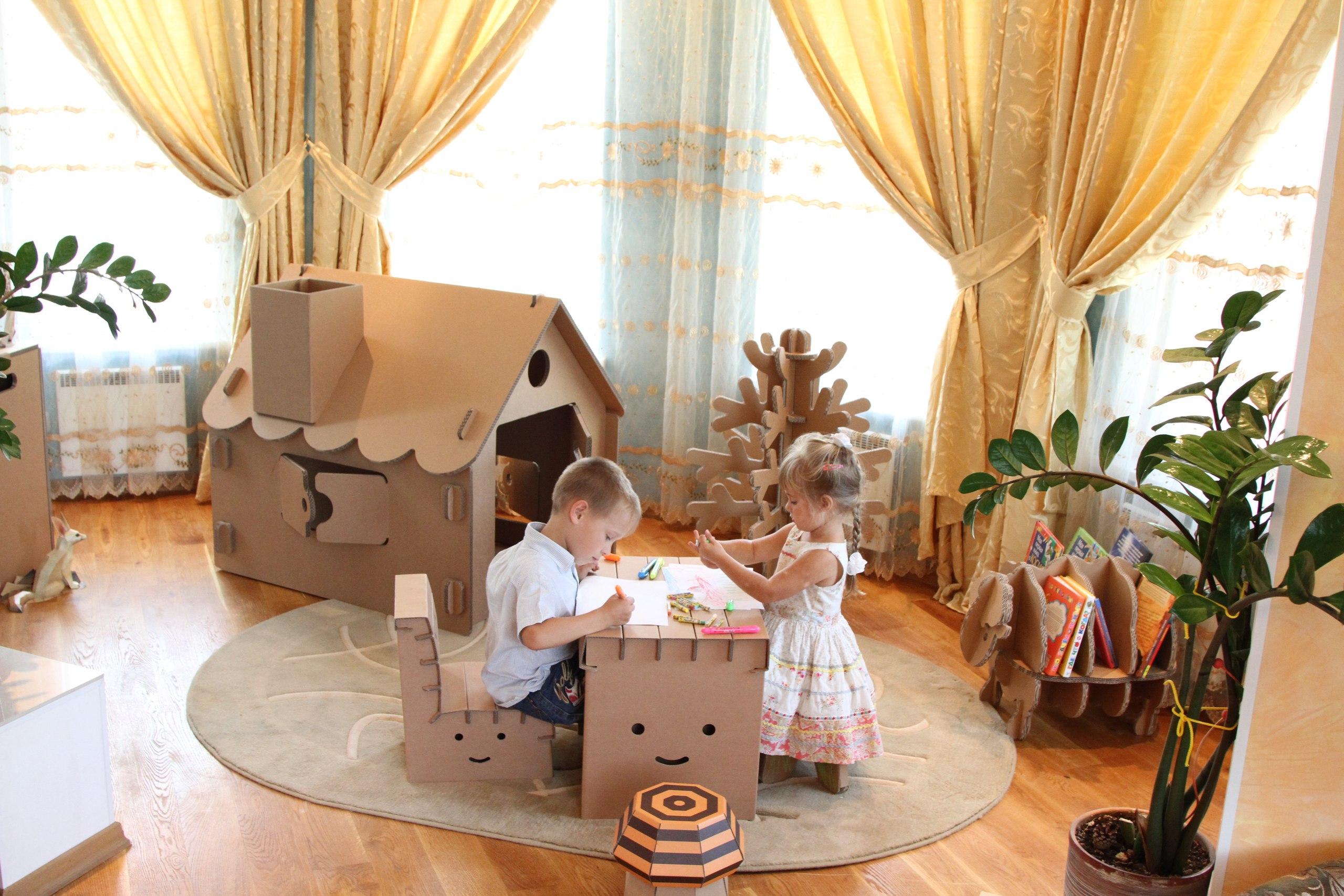 Мебель из коробок своими руками для детей фото 480