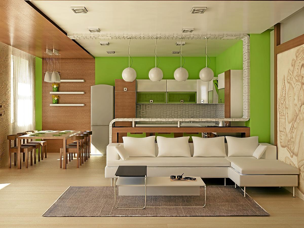 Комната-студия гостиная зона